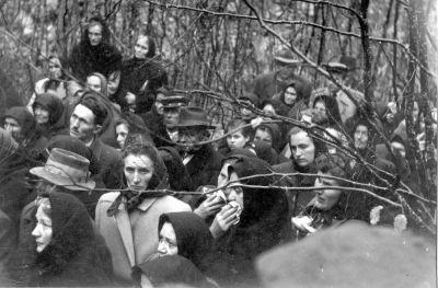 Families of Serbian victims from Grubišno Polje, visiting Šaranova jama on Velebit in 1957, Milan Bastašić, <em>Bilogora i Gubišno Polje 1941</em>–<em>1991,</em> Banja Luka<em> </em>– Beograd 2009, pp. 70