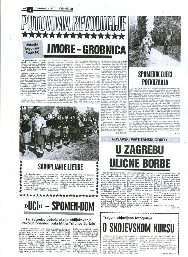 Večernji list 04.06.1975. | Večenji list 4.06.1975