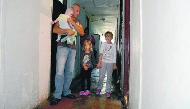 Избjеглице у колективном центру у Крњачи