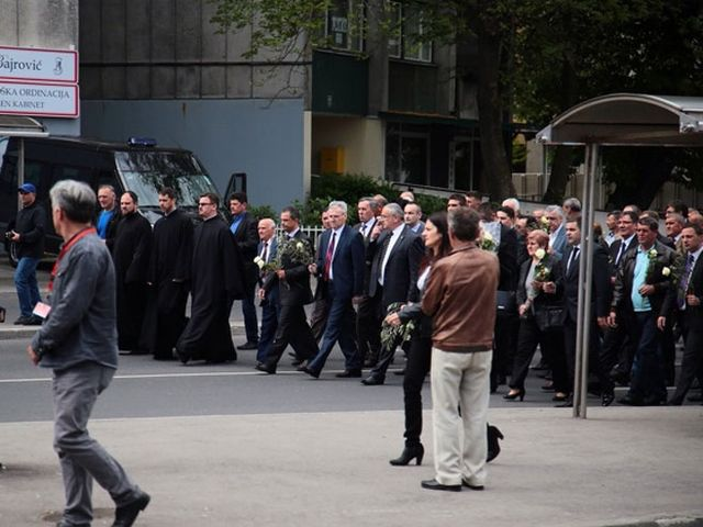 Obilježavanje stradanja vojnika JNA u Dobrovoljačkoj (FOTO:KLIX)