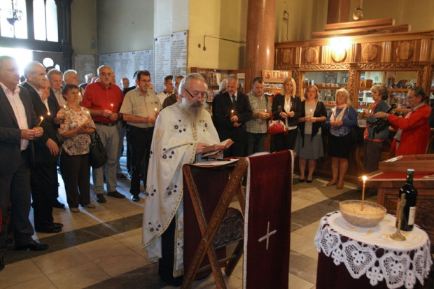 Parastos stradalim Srbima u Medačkom džepu služen je u crkvi Sv. Marka u Beogradu