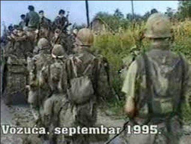 Pripadnici tzv. Armije BiH ulaze u Vozuću