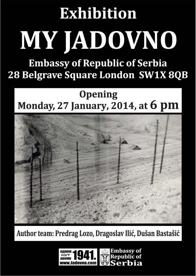 "EXHIBITION ""MY JADOVNO"" IN SERBIAN EMBASSY IN LONDON"