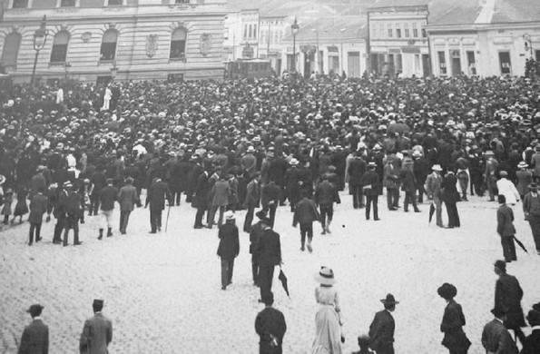 Narodni zbor kod Narodnog pozorišta u Beogradu, 12. oktobra 1908. godine