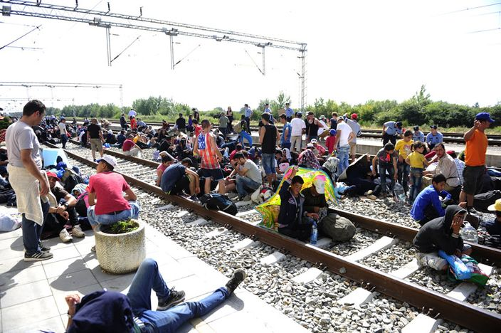 Sirijske izbjeglice na granici u Tovarniku