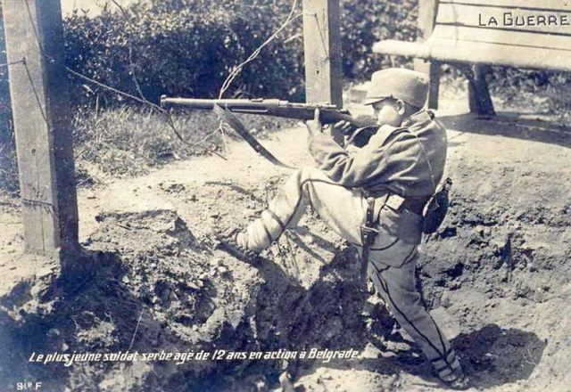 Dragoljub Jeličić sa 12 godina brani Beograd 1914. godine