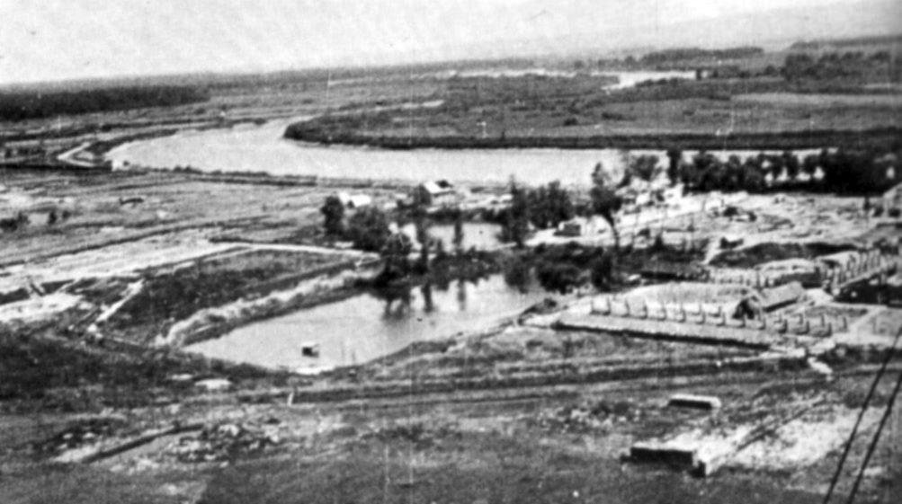 Vazdušni snimak neposredno po završetku rata