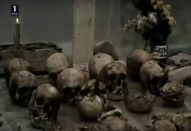 Srpske lobanje izvađene iz Šurmanačke jame
