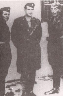 Stipe Prpic, friar Miroslav Filipovic-Majstorovic, and Jerko Maricic