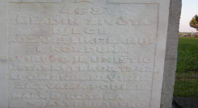 Natpis na spomeniku