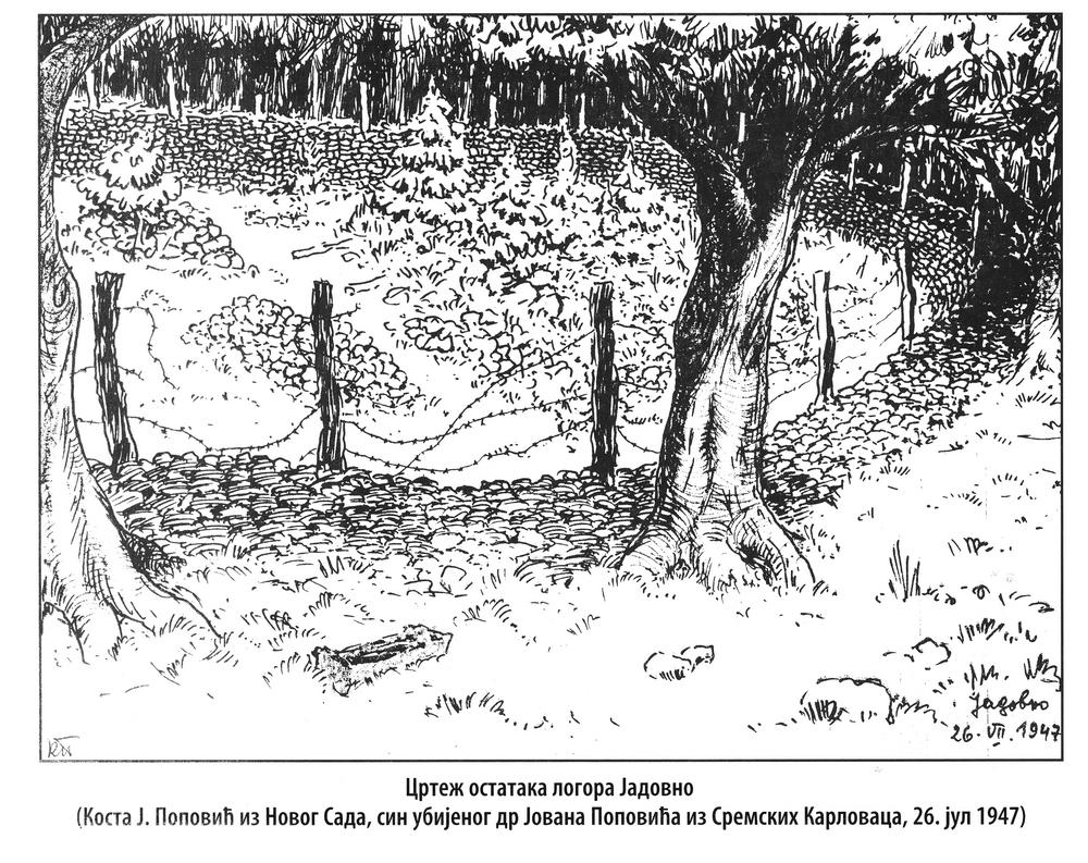 Логор Јадовно-цртеж