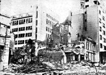 Posledice savezničkog bombardovanja Beograda 1944. godine.