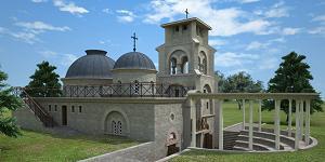 Idejno rešenje obnovljenog hrama u Prebilovcima