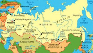 Карта Русије
