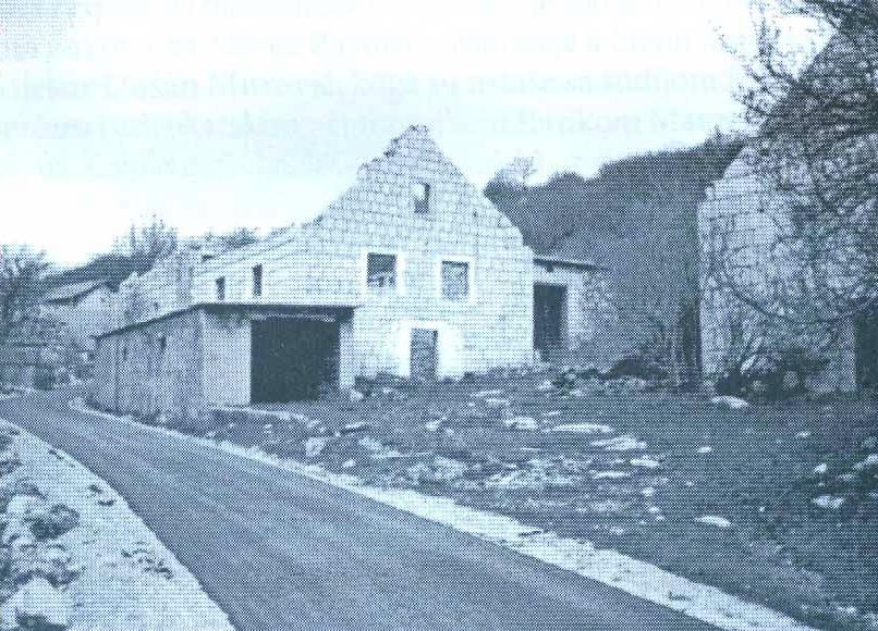 Ruševina kuće Janje Lalić-Šunjka u Čelebiću