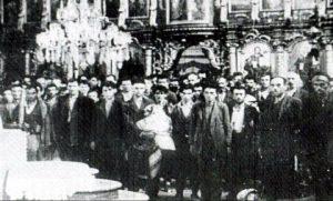 Srbi u glinskoj crkvi