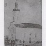 Slika 1: Crkva u Crkvenom Boku sa stare razglednice (Foto: B. Turajlić)