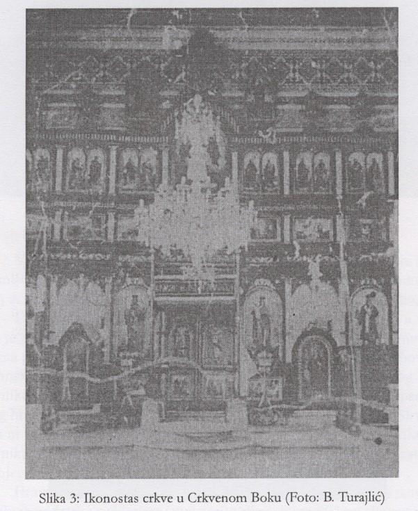 Slika 2: Ikonostas crkve u Crkvenom Boku (Foto: B. Turajlić)