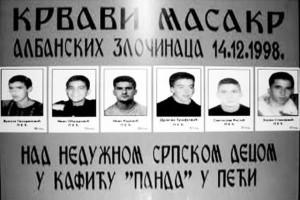 Ubijeni srpski mladići u kafiću Panda