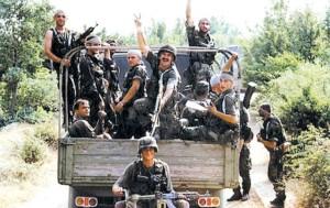 """Pripadnici hrvatske """"vojske"""""""