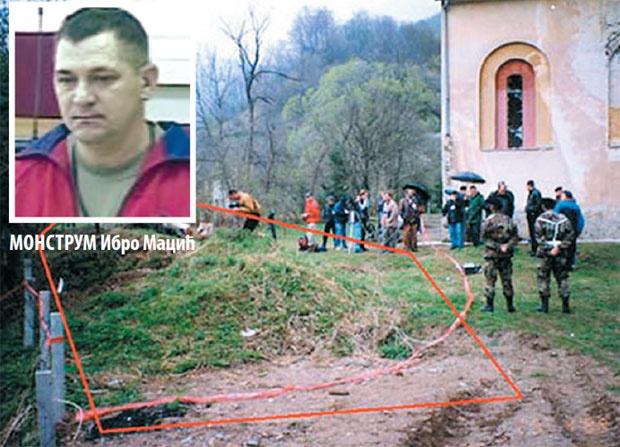 Ibro Macić, iskopavanje žrtava u Bradini