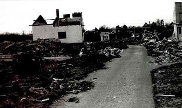 Zgarišta srpskih kuća u Medačkom džepu poslije akcije hrvatske vojske
