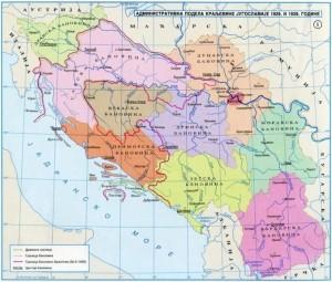 Administrativna podjela Jugoslavije 1929. i 1939.