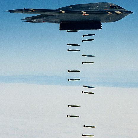 Stealth bombarder B-2