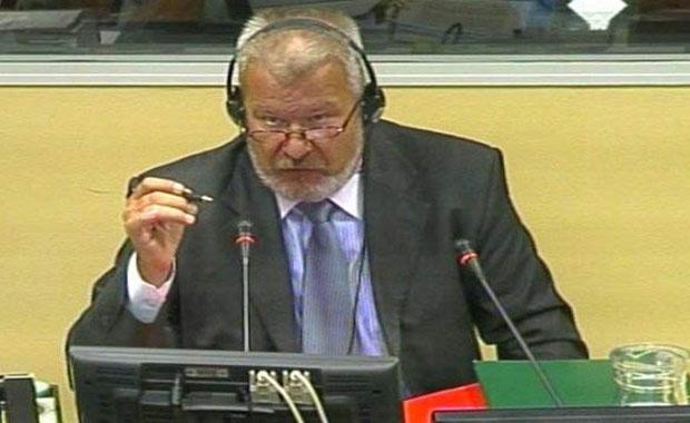 Dušan Dunjić, na jednom od svedočenja u Tribunalu