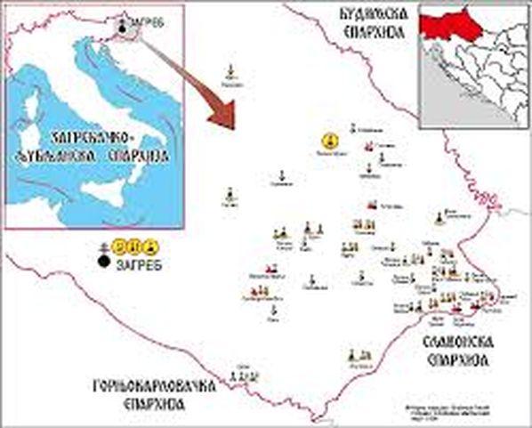 Karta - crkve u Hrvatskoj