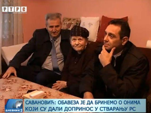 Savanović i Vulin posjetili Milevu Župić, majku tri poginula borca