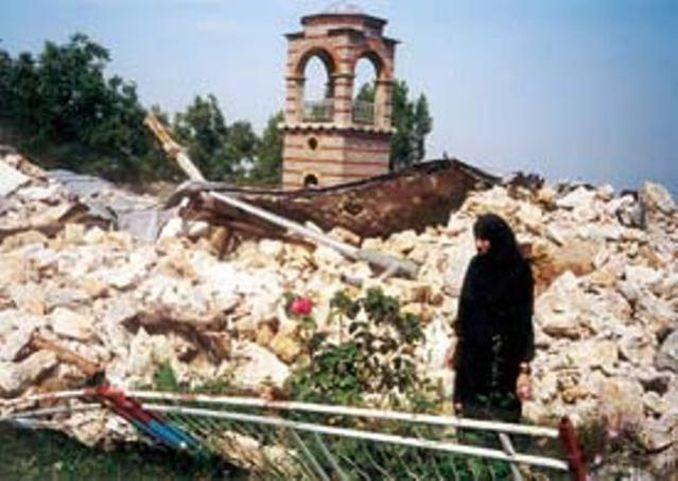Srušeni manastir Svete Trojice kod Mušutišta