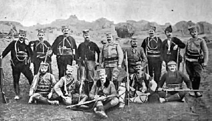 Vojvoda Popović, vojvoda Vuk, sa svojim vojnicima