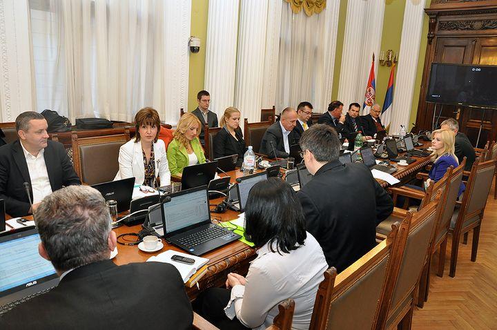 Članovi Odbora za dijasporu i Srbe u regionu na jednom od sastanaka
