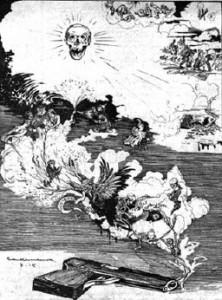 Jedna od karikatura o ratu flamanskog grafičara i autora stripova Žorža van Ramdonka