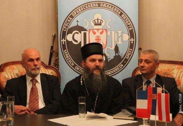 Vojislav Mihailović, Episkop Andrej i mr Radovan Kalabić