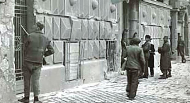 Pripadnici Ozne u akciji u Knez Miloševoj ulici