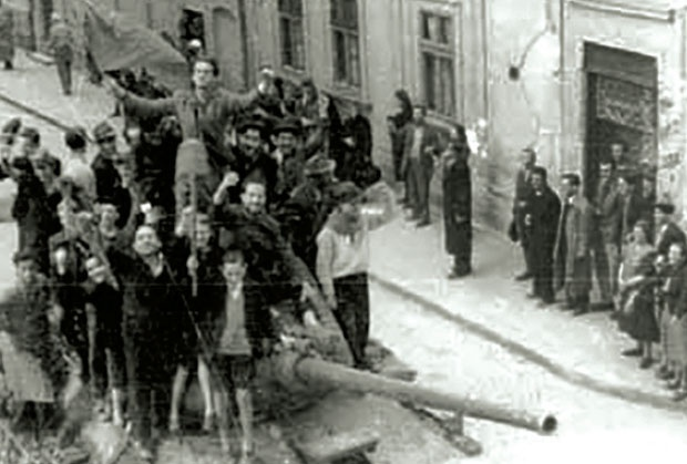 Совјетски тенк 20. октобра у Београду