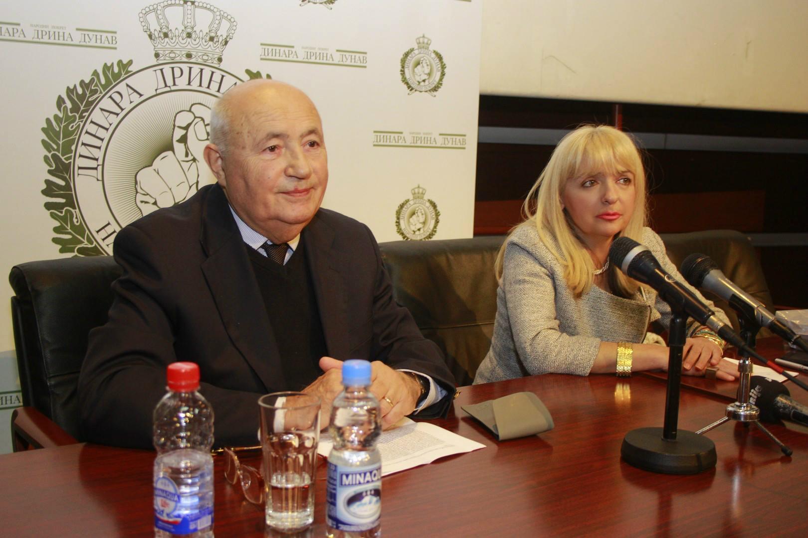 dr Srboljub Živanović i Vesna Pešić