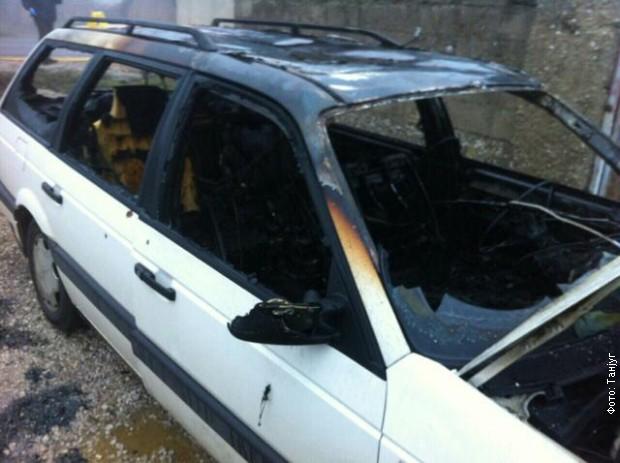 Zapaljeno vozilo u oružanom napadu u Goraždevcu