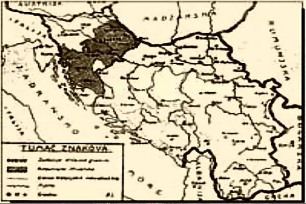 Karta Jugoslavije i Hrvatske izvan nje, u slučaju da dođe do njene amputacije