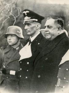 Milan Nedić sa nemačkim oficirima