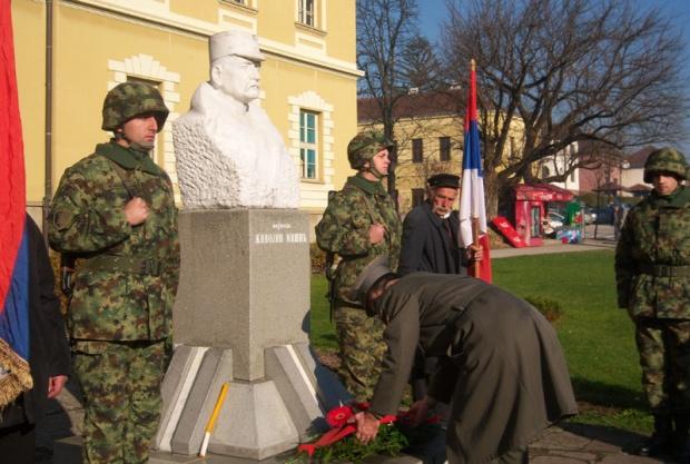 Polaganje vijenaca na spomenik vojvodi Mišiću