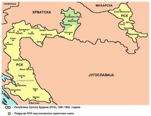 Područje nekadašnje Republike Srpske Krajine