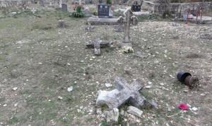 Oskrnavljeno groblje manastira Krka (Foto: standard.rs)
