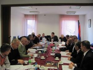 Sjednica Predsjedništva Boračke organizacije Republike Srpske u Banjaluci.