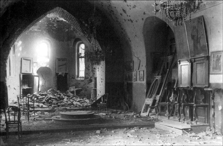 Oštećena crkva Ružice u Gornjem gradu Foto: Dragoljub Pavlović