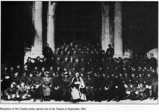 Prijem ustaške policije u Vatikanu, septembar 1943.