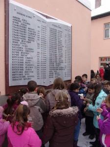 Spomen ploča na zgradi Osnovne škole