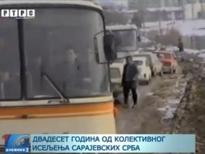 20 godina od egzodusa Srba iz Sarajeva Foto: RTRS
